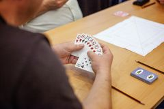 People play cards Royalty Free Stock Photography