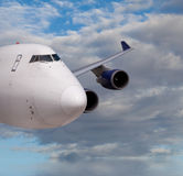 Close up view of a cargo jet Royalty Free Stock Photography