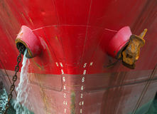 Close up view of cargo ship Royalty Free Stock Photo