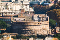 Close up view of Castle Sant`Angelo. Rome, Italy. Stock Photo