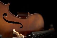 Close up view of a Cello. Royalty Free Stock Photos