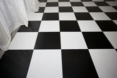 Close-up view of chequered floor Royalty Free Stock Images
