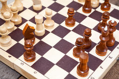 Close-up view of chess pieces Stock Photos