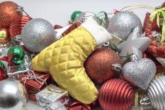 Close up view christmas decoration concept stock photos