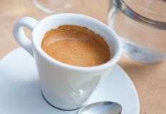 Close-up view of coffee cup Royalty Free Stock Image