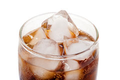 Close up view of the cola in glass Stock Photos