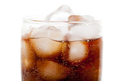 Close up view of the cola in glass Stock Photo