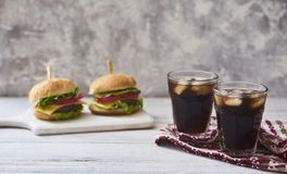 Image of fresh tasty burger royalty free stock images