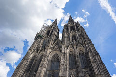 Close up view of Cologne Cathedral in Cologne, Germany stock image