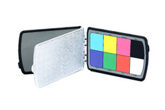 Close up view of color checker. Equipment of professional Stock Image