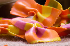 Close up view of colorful Italian pasta Stock Image