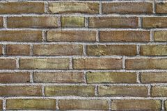 Close up view on colorful weathered and aged brick walls in high resolution. Found in germany stock photography