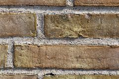 Close up view on colorful weathered and aged brick walls in high resolution. Found in germany stock photo