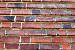 Close up view on colorful weathered and aged brick walls in high resolution. Found in germany stock image