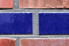 Close up view on colorful weathered and aged brick walls in high resolution. Found in germany royalty free stock image