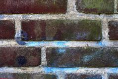 Close up view on colorful weathered and aged brick walls in high resolution. Found in germany stock images
