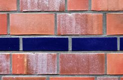 Close up view on colorful weathered and aged brick walls in high resolution. Found in germany royalty free stock photo