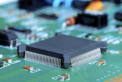 Close-up view of the computer circuit board Royalty Free Stock Image