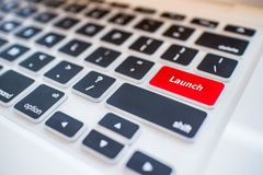 Close-up view on conceptual keyboard Stock Photography