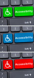 Close-up view on conceptual keyboard. With web or online accessibility Royalty Free Stock Image