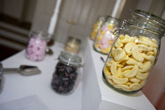Close-up view of confectionary in glass jars Stock Photo