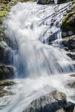 A Close-up view of Crabtree Falls in the Blue Ridge Mountains of Virginia, USA. Close-up view of Crabtree Falls located in the Blue Ridge Mountains, George Stock Photo