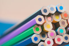 Close up view of crayons. Stock Photography