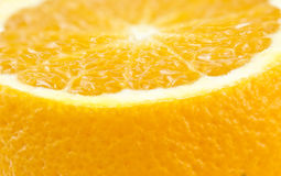 Close up view of a cut orange Royalty Free Stock Photography