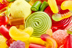 Close up view of delicious candies in a pile Stock Photo