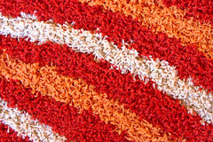 Close up view of the detail of shaggy carpet Stock Images