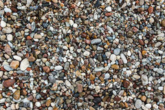 A close up view of different rounded smooth polished stone Royalty Free Stock Photos