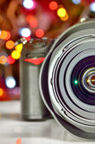 Close up view of digital camera Royalty Free Stock Image