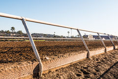 Close-Up View of Dirt Racetrack at Del Mar Stock Photo