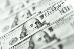 Close up view of dollar banknote Royalty Free Stock Photography