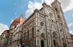 Close up view of Duomo Santa Maria Del Fiore in Florence, Tuscan Stock Photo
