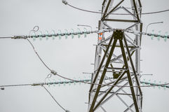 Close Up View of an Electricity Pylon Stock Photography