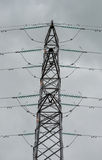 Close Up View of an Electricity Pylon Royalty Free Stock Image