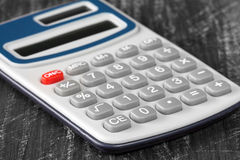 Close-up view of electronic calculator. Stock Photos