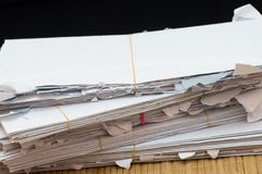 Close up view of envelope stack Stock Image