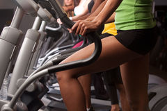 Close up view of exercising stock images