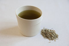 Close-up view of Fennel Seeds and infusion Stock Photography