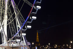 Close up view of ferris wheel in Paris. royalty free stock photo
