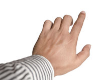 Close up view of finger pointing Royalty Free Stock Photography