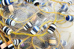 Close up view of fishing net. Stock Images