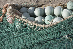 Close up view of fishing net Royalty Free Stock Photo