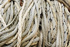Close up view of fishing ropes. Stock Images