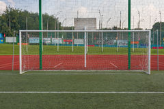 Close up view on football gate Stock Image