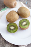Close up view of fresh kiwis fruits Stock Photography