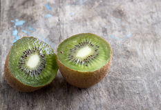 Close up view of fresh kiwis fruits. Cut in half Stock Photography