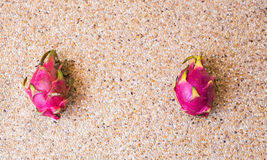 Close-up view of fresh ripe dragon fruits Pitaya. Food concept with copy space. stock photography